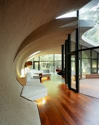 japanese interior architecture futuristic home design with natural environment in japan