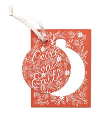 berry peace on earth ornament card by rifle paper co made in usa