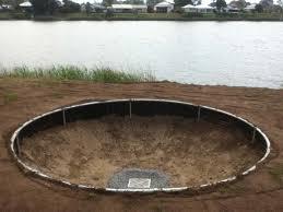 trampoline in ground kit round designs