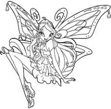 winx club enchantix bloom coloring picture kids winx club