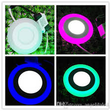 colour changing led ceiling lights 3w 3w double colors recessed round led panel lights two colors