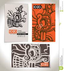 Designing Business Cards In Illustrator Ancient Business Card Design Stock Vector Image 39283427