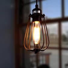 Wrought Iron Mini Pendant Lights Durable Wrought Iron Pendant Light Industrial For Living Room
