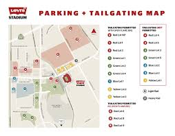 Seattle Parking Map by 49ers Parking At Levi U0027s Stadium