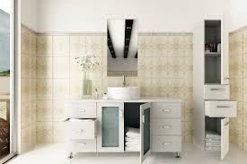 large white bathroom sink cabinet grand lune white single vessel