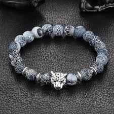 stone silver bracelet images Leopard charm natural stone beads bracelet ancient explorers jpg
