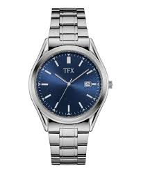 tfx mens stainless steel bracelet blue dial power sales