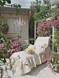 junk chic cottage garden sanctuary and new lounge chair slipcover