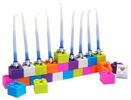 unique menorah building blocks menorah