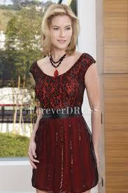 dark red square crepe prom dress with black wide belt