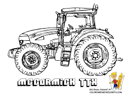 tractor farm coloring tractor coloring pages to print in vehicle
