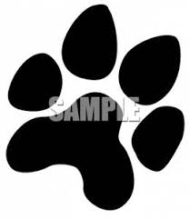 paw print royalty free clipart picture