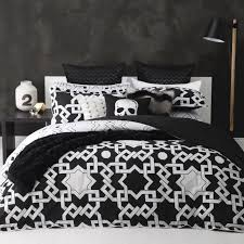 network black quilt cover set by logan and mason