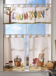 Laundry Room Curtains Laundry Room Curtains Pc Laundry Room Window Curtain Valance