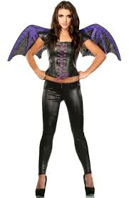 zorro halloween bat halloween costume gothic bat wings and top fancy dress set