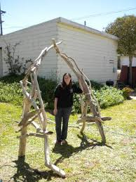 wedding arches made of tree branches i made my own driftwood arch offbeat