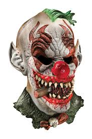 amazon com foam latex mask deluxe fonzo the clown clothing