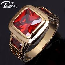 men rings wholesale images Wholesale fashion imitation jewelry male super red garnet men jpg
