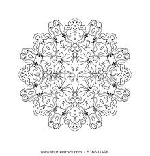 vector mandala ornamental contour mandala stock vector
