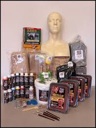 rubber mask making kit ed head complete kit with female alanna