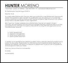 sample cover letter resume math teacher mediafoxstudio com