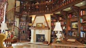 at home library hd wallpaper brucall com