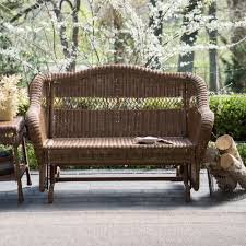 Porch Glider Swings Coral Coast Casco Bay Resin Wicker Outdoor Glider Loveseat