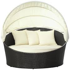 Outdoor Wicker Daybed Modway Siesta Outdoor Wicker Patio Canopy Bed In