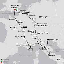 Eurostar Route Map by Wonders Of Europe Tours Cosmos