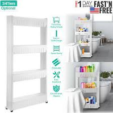 kitchen storage cabinet cart rolling 3 4 tiers kitchen storage cabinet shelf slim can