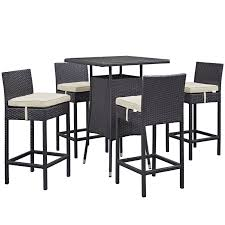 Patio Bar Height Dining Set - source outdoor bar height patio dining set seats 6 hayneedle