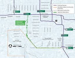 Arizona Highway Map by South Mountain Freeway Receives Final Federal Approval