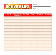 free daily log reading log pdf reading log template 9 download