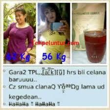 Teh Tpl turun dari 62 kg menjadi 56 kg setelah mengkonsumsi teh peluntur