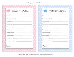 100 wishes for baby template 6 best images of free printable