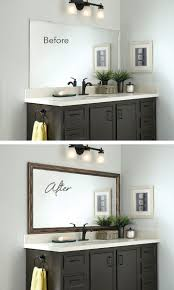 bathroom cabinets frame mirrors a molding for mirror in bathroom