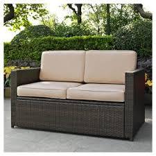 White Resin Wicker Loveseat Outdoor Sofas U0026 Loveseats Target
