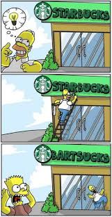 Bart Simpson Meme - starbucks bart sucks the simpsons memes and comics