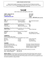 acting resume templates child actor sle resume child actor sle resume are exles