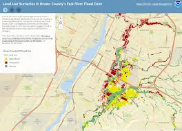 Wisconsin River Map by Land Use Scenarios In Brown County U0027s East River Flood Zone Great