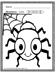 bats spiders coloring pages