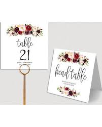 wedding table numbers template great deal on personalized table numbers printable wedding table