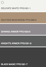 trending color palettes new 2016 interior paint color schemes knights watch from ppg the