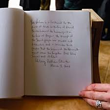 memorial guest book compare then sigh s note for the holocaust memorial vs