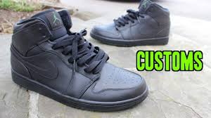 Spray Paint Your Shoes - how to paint jordan shoes blackout custom youtube