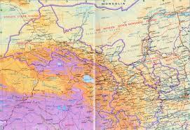 China Physical Map by Detailed Gansu Map Gansu Physical Map Gansu Railway Map
