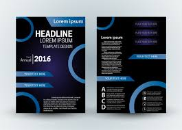 brochure design templates cdr format free download white