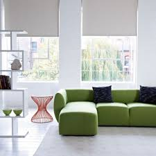 Reversible Sectional Sofa Furniture Innovative Modular Sofa In Green Color Modern Reversible
