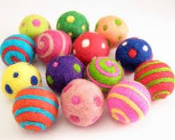 felt crafts wool felt craft ornament balls