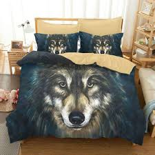 Wolf Bedding Set Luxury 3d Wolf Bedding Set Size Duvet Cover Linens Bed